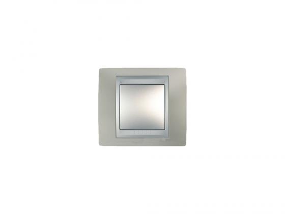 Рамка 1 пост никель/алюминий Schneider Electric Unica Top MGU66.002.039  рамка 3 пост лунный алюминий schneider electric mgu68 006 7a2
