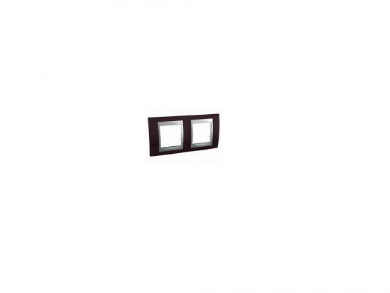 Рамка 2 пост венге/алюминий Schneider Electric Unica Top MGU66.004.0M3