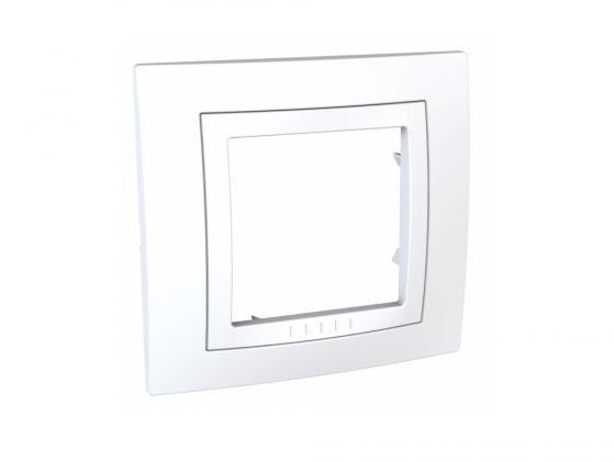 Рамка 1 пост белый Schneider Electric MGU2.002.18 рамка 1 пост оникс графит schneider electric mgu66 002 296