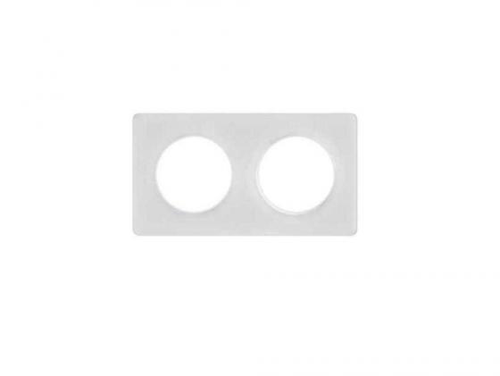 Рамка 2 пост прозрачный белый Schneider Electric Odace S52P804R  выключатель schneider electric odace для управления приводом жалюзи белый s52r207