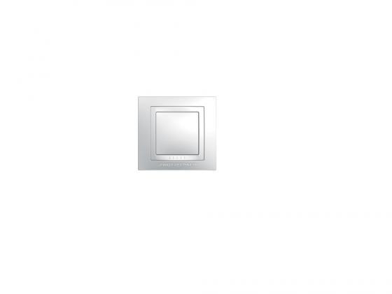 Рамка 1 пост белый Schneider Electric MGU2.002.18M рамка 1 пост оникс графит schneider electric mgu66 002 296