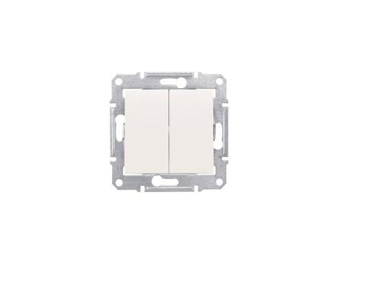 Выключатель Schneider Electric 2-клавишный бежевый SDN0300147 выключатель legrand quteo 2 клавишный серый 782332