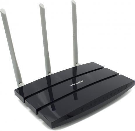 Беспроводной маршрутизатор TP-LINK TL-WR1045ND 802.11n 450Mbps 2.4 ГГц 4xLAN USB USB синий маршрутизатор tp link tl wr1045nd синий