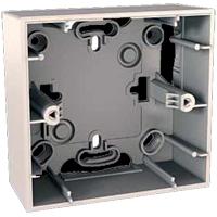Монтажная коробка для наружной проводки Schneider Electric Unica 36мм 1 пост бежевый MGU8.002.25