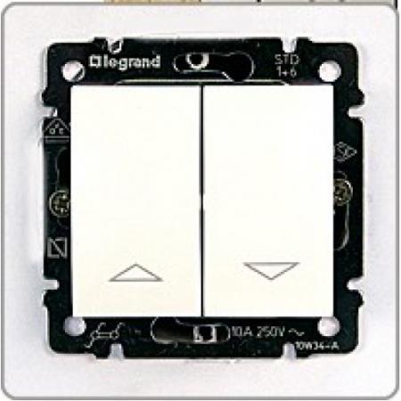 Выключатель Legrand Valena для управления рольставнями белый 774404