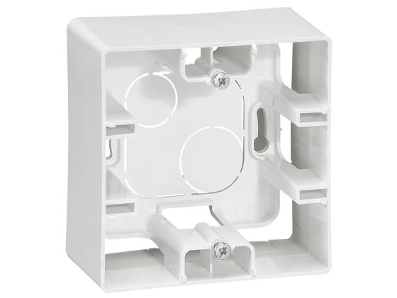 Коробка накладная Legrand ETIKA 1 пост белый 672510