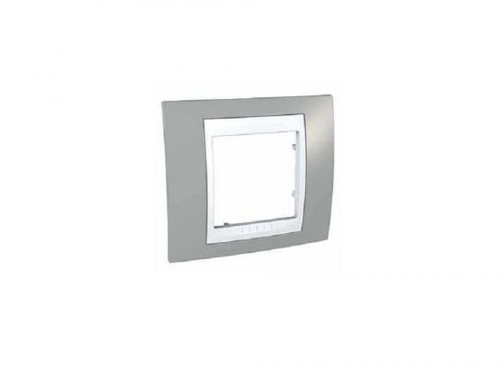 Рамка 1 пост хамелеон серый/белый Schneider Electric Unica MGU6.002.865