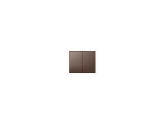 Лицевая панель Legrand Galea Life для двойного выключателя темная бронза 771212 цены