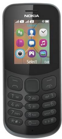 """все цены на Мобильный телефон NOKIA 130 Dual Sim 2017 черный 1.8"""" 8 Мб A00028615 онлайн"""