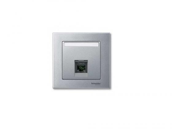 цены  Накладка для розетки алюминий Schneider Electric MTN465860