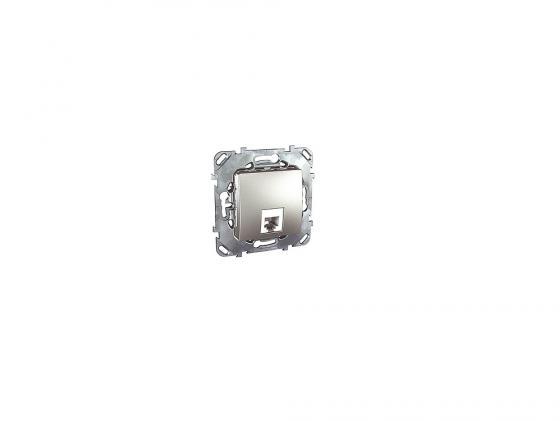 Розетка телефонная Schneider Electric 1хRJ11 4 контакта алюминий MGU5.492.30ZD