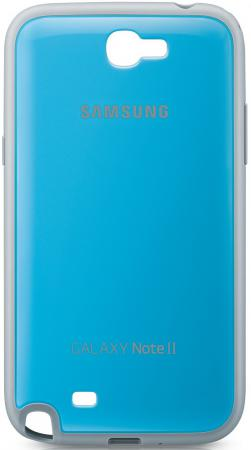 Задняя крышка Samsung EFC-1J9BLEGSTD для Samsung Galaxy Note 2 синий samsung galaxy s6 case anti slippery устойчивость к царапинам противоударная легкая крышка бампера для samsung galaxy s6