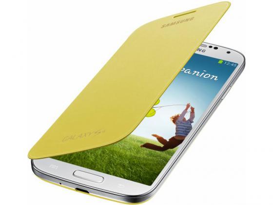 Чехол-книжка Samsung EF-FI950BYEGRU для Samsung Galaxy S4 желтый чехол для для мобильных телефонов samsung crystal capa case samsung s3 s4 s5 s6 2 3 4 for samsung s3mini s4mini s5mini