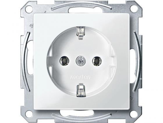 Розетка Schneider Electric с заземлением без шторок белый MTN2301-0319