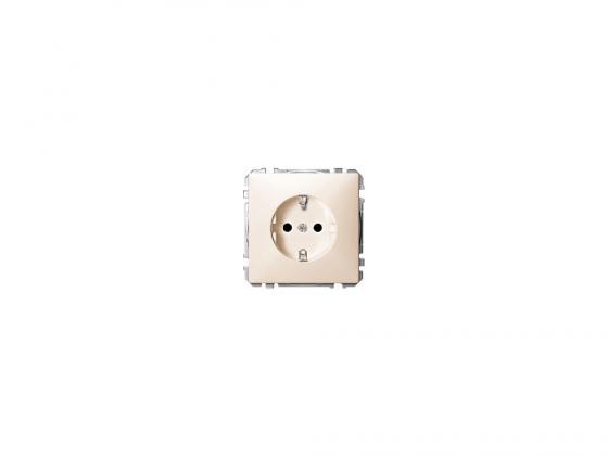 Розетка Schneider Electric с заземлением со шторками бежевый MTN2300-4044