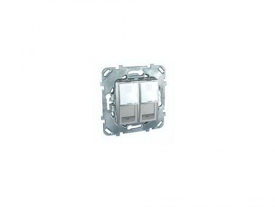 Розетка компьютерная Schneider Electric RJ45 кат.5e UTP  MGU5.2020.30ZD патч панель schneider electric actassi vdig113241u60 19 1u 24 порта utp категория 6