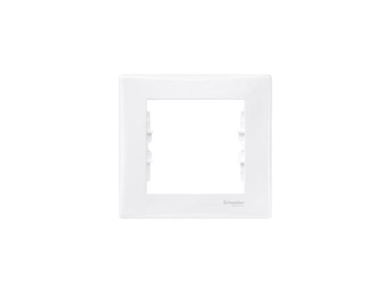 Рамка Schneider Electric 1 пост белый SDN5800121 рамка 1 пост оникс графит schneider electric mgu66 002 296