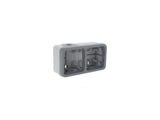 Монтажная коробка Legrand Plexo 2 поста серый 69672  монтажная коробка legrand plexo 1 пост белый 69689