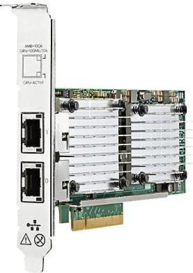 Адаптер HP Ethernet Adapter 530T 2x10Gb PCIe2.0 Broadcom for Gen8/Gen9-servers 656596-B21 плата коммуникационная hp ethernet 1gb 4p 366m adapter 615729 b21