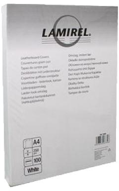 Обложка для переплетов Fellowes Lamirel Delta A4 тиснение под кожу белый 100шт LA-7868501 CRC-7868501