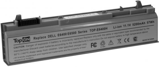Аккумулятор для ноутбука Dell Latitude E6400, E6410, E6500, E6510, Precision M2400, M4400, M4500, M6400, M6500 Series 4400мАч 11.1V TopON TOP-E6400 english backlit keyboard for dell latitude e6400 e6410 e5500 e5510 e6500 e6510 precision m2400 m4400 laptop us