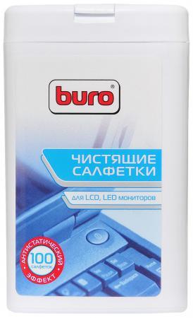 Влажные салфетки BURO BU-tft 100 шт влажные салфетки buro bu zsurface