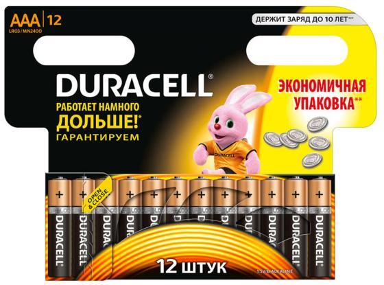 Батарейки Duracell Basic LR03/AAA AAA 12 шт батарейки duracell basic lr6 4bl aa 4 шт