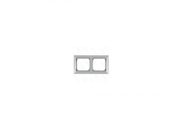 Рамка Legrand Valena 2 поста алюминий/серебряный штрих 770352