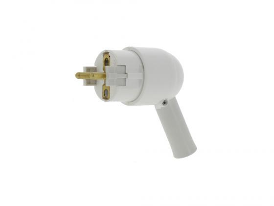 Вилка Legrand 2К+З белый 50175