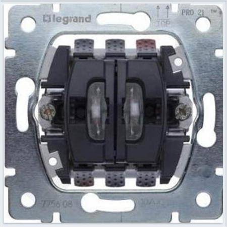 Переключатель Legrand Galea Life на 2 направления с подсветкой 775608 legrand legrand galea life бел клавиша 2 ая c точечной подсветкой 771079