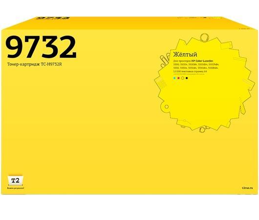Фото - Картридж T2 C9732A для HP Color LaserJet 5500 5550 желтый 12000стр TC-H9732R картридж hp c9731ac для hp laserjet 5500 голубой 12000стр
