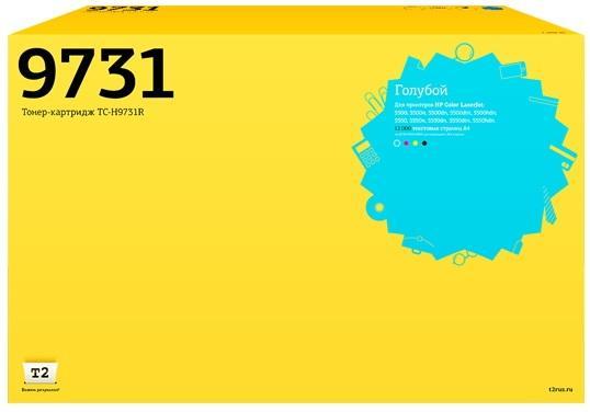 Фото - Картридж T2 C9731A для HP Color LaserJet 5500 5500dtn голубой 1300стр TC-H9731R картридж hp c9731ac для hp laserjet 5500 голубой 12000стр