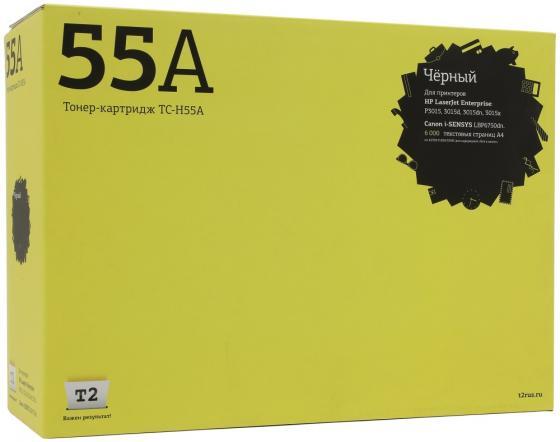 Фото - Картридж T2 TC-H55A для для P3015/P3015d/P3015dn/P3015x 6000стр Черный картридж t2 tc c725 для lbp6000 lbp6000b lbp6020 lbp6020b