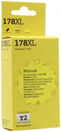 Фото Картридж T2 №178XL для HP Deskjet 3070A/Photosmart 6510/7510/B110/C8583 желтый 750стр CB325HE