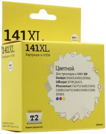 Картридж T2 №141XL для HP Deskjet D4263/D5360/OfficejetJ5783/J6413/Photosmart C4273 цветной 580стр CB338HE мфу hp deskjet ink advantage 5275