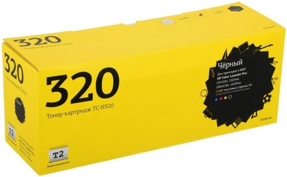 Картридж T2 CE320A для HP LaserJet Pro CP1525n CP1525nw CM1415fn 1415fnw черный с чипом 2000стр TC-H320 hp laserjet pro cm1415fn ce861a киев