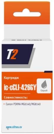 Картридж T2 IC-CCLI-426GY для Canon Pixma iP4840 iP4940 MG5140 MG5240 серый картридж t2 ic ccli 426c для canon pixma ip4840 ip4940 mg5140 mg5240 blue