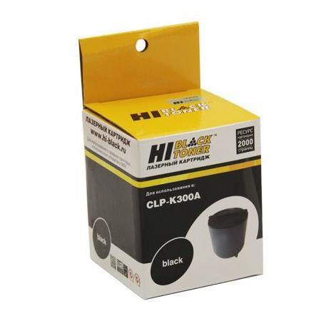 Картридж Hi-Black для Samsung CLP-K300A CLP-300 черный с чипом 2000стр 98052090111 картридж для принтера hi black hb clp k300a black