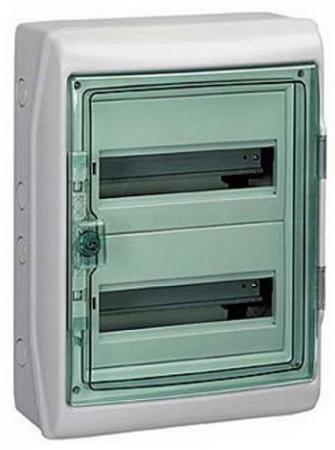 Бокс Schneider Electric Kaedra 2 ряда 24 модуля 13983 щиток навесной schneider electric kaedra для 24 модулей пластиковый ip65