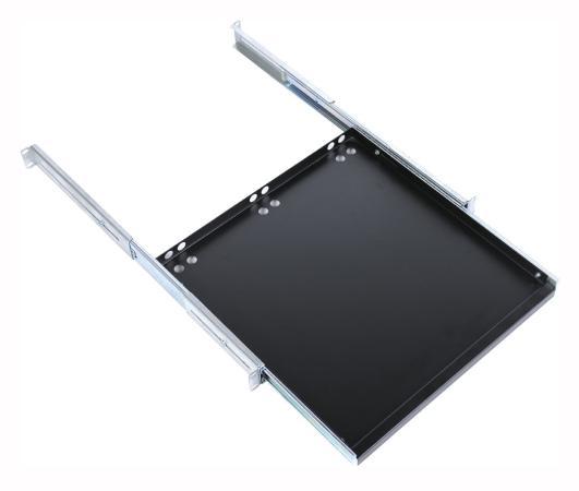 """лучшая цена Полка клавиатурная ЦМО 19"""" с телескопическими направляющими глубина 580-750мм черный ТСВ-К4-9005"""