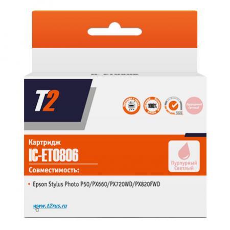 Картридж T2 C13T08064010 для Epson Stylus Photo P50/PX660/PX720WD/PX820FWD пурпурный IC-ET0806 принтер epson stylus photo p50