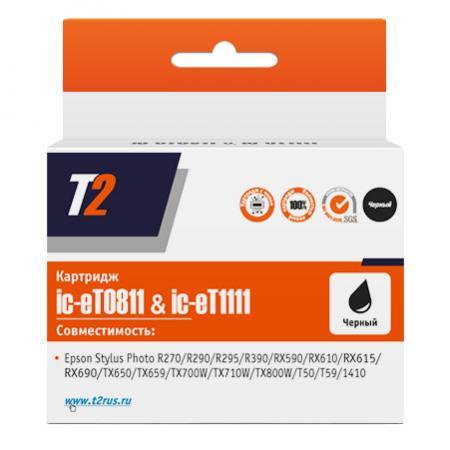 Картридж T2 C13T08114A для Epson Stylus Photo R270/R290/R390/RX690/TX700 черный IC-ET0811 картридж epson t009402 для epson st photo 900 1270 1290 color 2 pack
