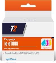 Фото - Картридж T2 IC-ET008 C13T00840110 для Epson StPh 870 890 790 895 цветной чипом картридж t2 ic h8766 135 аналог c8766he цветной