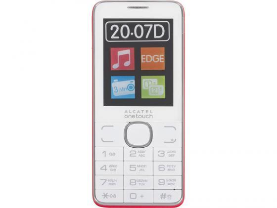 Мобильный телефон Alcatel OneTouch 2007D поддержка двух сим-карт White/Red бело-красный аксессуар защитная пленка alcatel onetouch 6070k idol 4s red line
