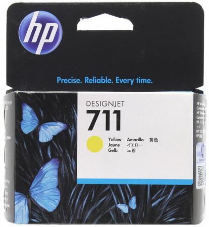 Картридж T2 №711 для HP Designjet T120 520 желтый CZ133A картридж hp 711 cz133a 80ml black