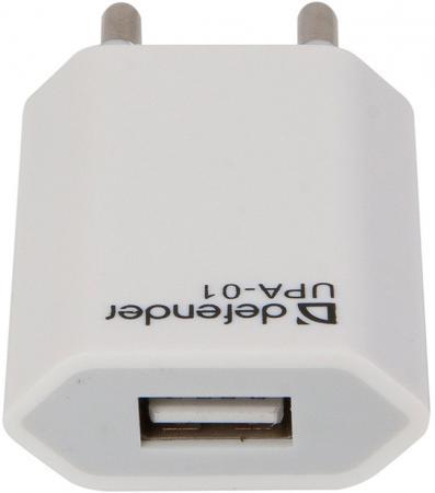 Сетевое зарядное устройство Defender UPA-01 1A белый