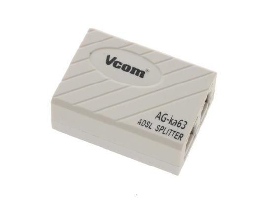 Сплиттер VCOM VTE7703 ADSL AG-ka63 Annex A сплиттер vcom vte7703 adsl ag ka63 annex a