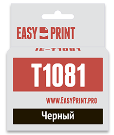 Фото - Картридж EasyPrint IE-T1081 C13T0921 T1081 для Epson Stylus C91 CX4300 TX106 TX117 черный картридж easyprint ie t1082 для stylus c91 cx4300 tx106 tx117 151стр голубой