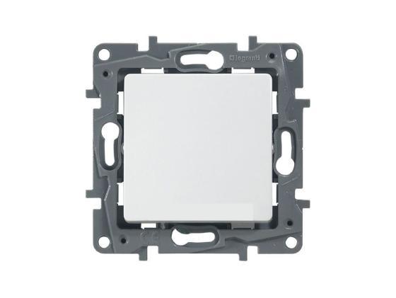 Выключатель Legrand Etika 1-клавишный белый 672201 механизм выключателя legrand etika белый 2 клавишный 672202