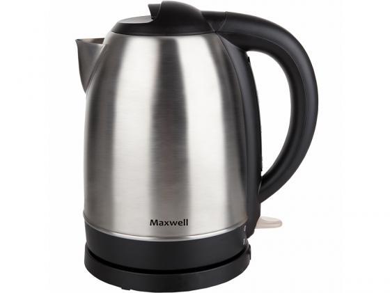 Чайник Maxwell MW-1049 2200 Вт 1.7 л металл серебристый чайник maxwell mw 1083 tr 2200 вт чёрный 1 7 л стекло
